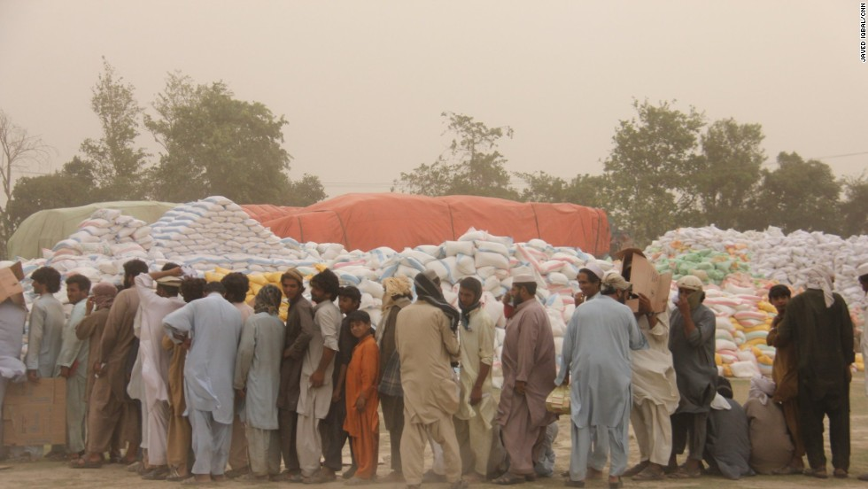 WFP had expected the families to be an average size of six, but some families fleeing out of North Waziristan are made up of 14 people.