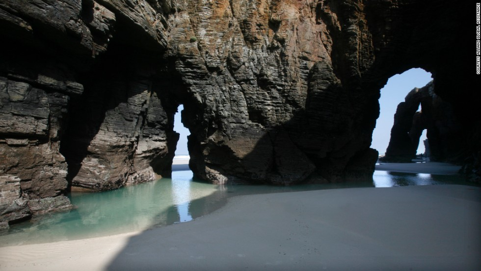 "Dubbed ""Beach of the Cathedrals"" for its unusual rock formations that are reminiscent of vaults and arches, As Catedrais beach ranks among one of Europe's most beautiful beaches."