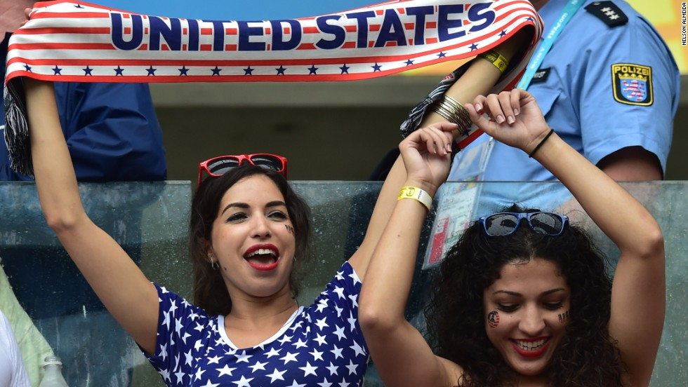 U.S. fans cheer during the Germany match.