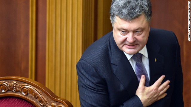 Ukraine's President Petro Poroshenko scheduled new elections.