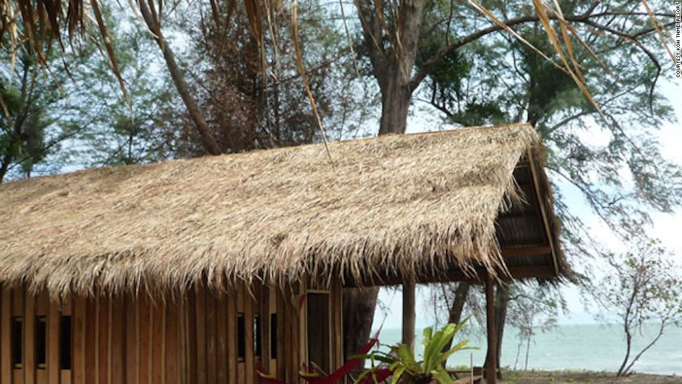 Koh Thmei Resort is the only place to stay on the island. Featuring nine simple wooden bungalows, the property is eco-friendly and solar powered.