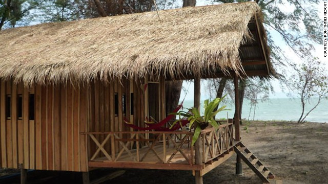 Koh Thmei Resort is the only place to stay on the island of the same name.