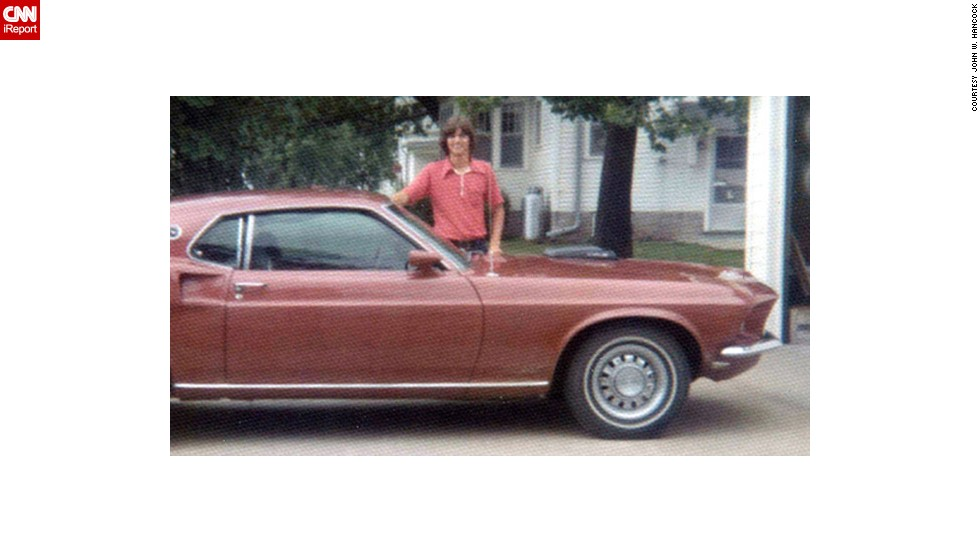 "When <a href=""http://ireport.cnn.com/docs/DOC-1142236"">John Hancock</a> turned 18, he bought this 1969 Ford Mustang. He loved it because it was ""very, very fast."" Here he is standing with his car in Donnellson, Iowa, in July 1973."