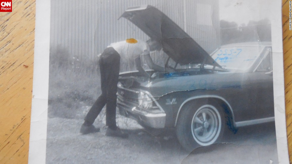 """Back then, not everyone had a car. So if a guy did, he was considered way cool,"" <a href=""http://ireport.cnn.com/docs/DOC-1141387"">Linda Glovach </a>said. This is a photo of her boyfriend tending to his 1966 Chevrolet Chevelle in Elmont, New York, in 1967."