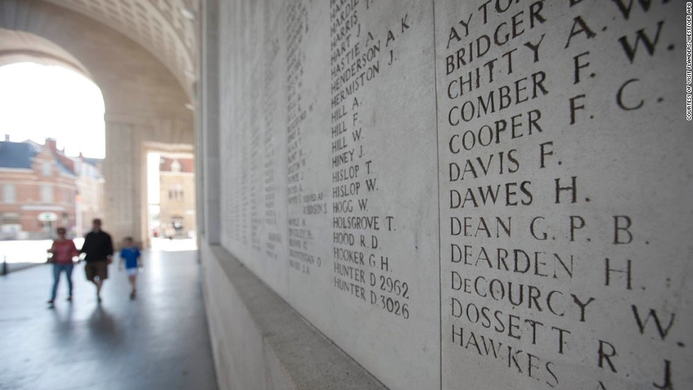 Tour de France riders will pass though the Menin Gate at Ypres, a stone arch memorializing the thousands killed in battles around this pretty Belgian market town between 1914 and 1918.