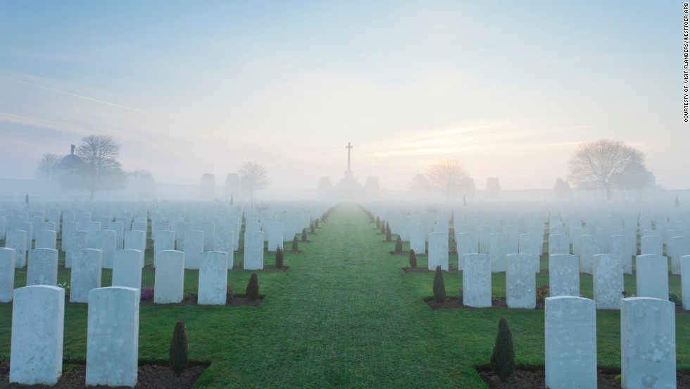 War graves are part of the scenery around Flanders. Every 10 minutes or so cyclists can see another cemetery or crater, highlighting how small the gains were for both sides in the conflict for such loss of life.