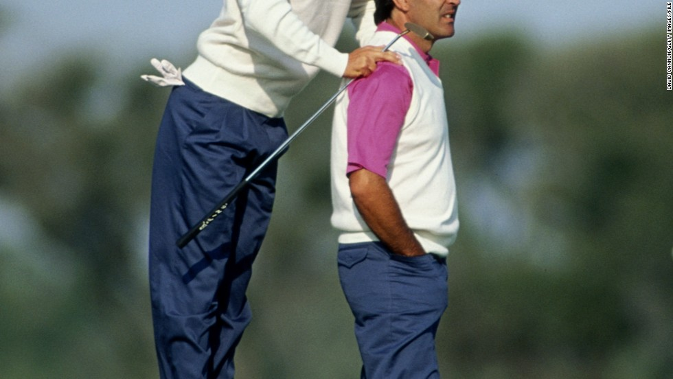 Ballesteros and Olazabal also excelled as a partnership in the Ryder Cup, which Seve is credited with reinvigorating from his first appearance in 1979 when the competition saw Europe take on the United States. It had previously been Great Britain and Ireland against the U.S..
