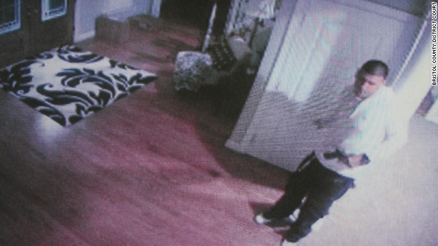 Prosecutors believe surveillance video shows Aaron Hernandez with what they think is the murder weapon.