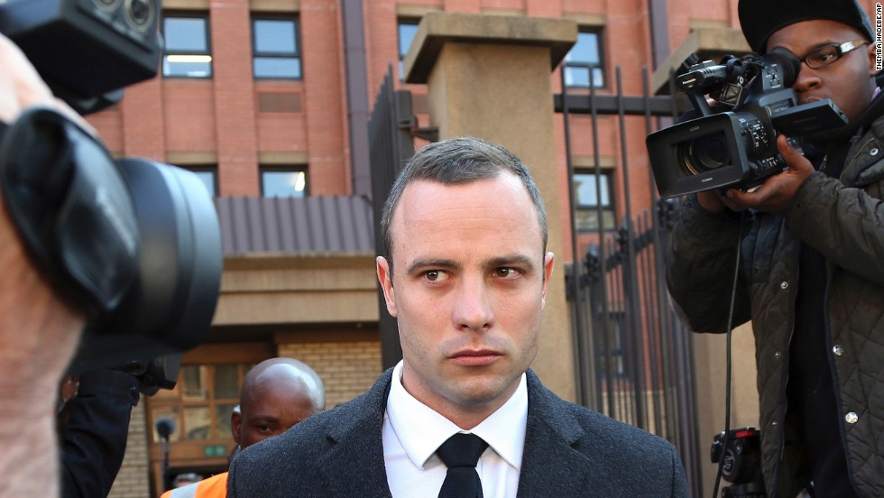 Pistorius leaves the court in Pretoria on Tuesday, May 20.