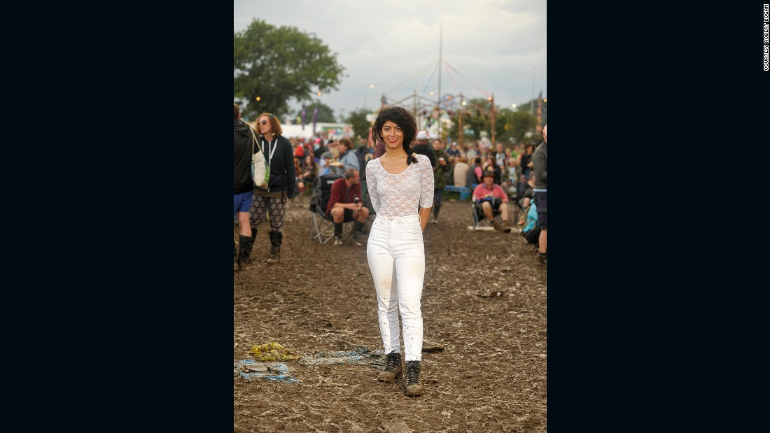 "You might think that wearing an all-white ensemble was a fool-hardy endeavour when you're ankle-deep in splattering sludge. But there were no regrets for 28-year-old Colombian Liliana Cecilia, who simply advises: ""You have to stand up for yourself in life."""