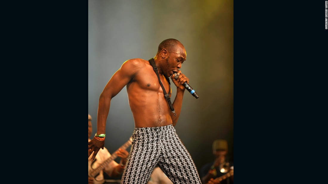 Sometimes less is more. And if you're wearing a magnificent pair of trousers why distract attention away with superfluous upper-body clothing? Seun Kuti, youngest son of Afrobeat pioneer Fela Kuti, was for our money the coolest man on stage at this year's Glastonbury.