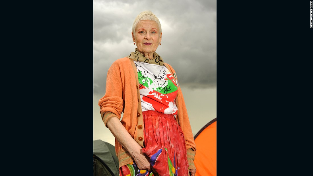 "Keeping up the national tradition of abject defiance in the face of unpleasant weather, doyen of British fashion Vivienne Westwood showed little regard to the menacing clouds overhead.  Known for her striking statement designs, Westwood was at the Greenpeace field to raise awareness about the risks of fracking in a hand-made t-shirt bearing a bold statement of a different kind:<br />""We're rushing to the point where we have irreversible climate change...my t-shirt shows what would happen if temperatures rose by five degrees - you draw a line parallel with Paris and everything beneath that in red in uninhabitable,"" she said, speaking exclusively to CNN."