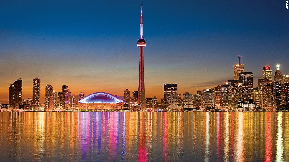 "For the best views of Canada's 553.33-meter-high <a href=""http://www.cntower.ca/intro.html"" target=""_blank"">CN Tower</a>, Rogers Centre sports stadium and the surrounding financial towers, you need to hit Lake Ontario (pictured). <a href=""http://www.harbourtourstoronto.ca/events.html#skyline"" target=""_blank"">Toronto Harbour Tours</a> offer tours for those who want to see the city's skyline, marinas and surrounding islands. <br /><a href=""http://www.seetorontonow.com/"" target=""_blank""><em>More info: Seetorontonow.com</a></em><br /><a href=""http://travel.cnn.com/explorations/life/destinations/insider-guide-best-toronto-139513"">MORE: Insider Guide: Best of Toronto</a>"