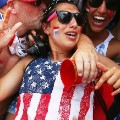 USA fans celebrate victory World Cup
