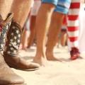 USA fans football boots