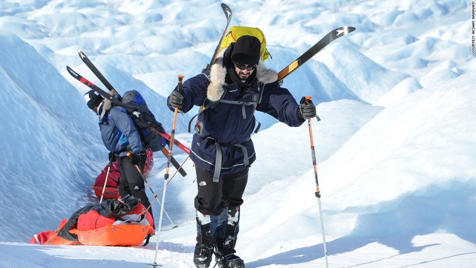 """For some places, like Greenland and eventually Antarctica, I will be on skis -- apart from walking and jogging,"" says Nanavati. ""I officially define the expedition as 'crossing every country in the world on foot,'  if someone really were to get technical about it."""