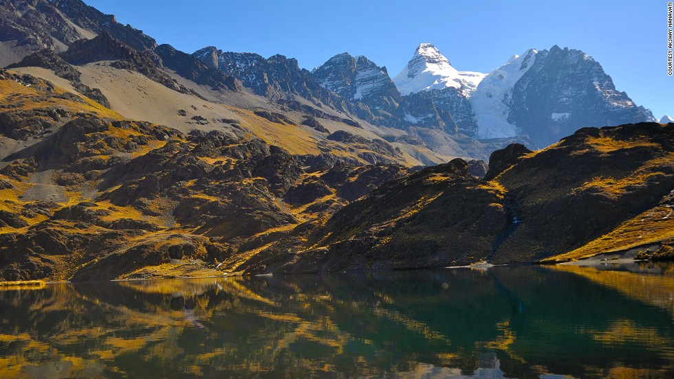 Nanavati has also spent two weeks mountaineering in Bolivia (pictured), doing Polar training in Norway and swimming with sharks in South Africa.