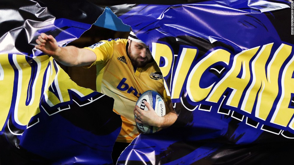 Jeremy Thrush of the Hurricanes takes the field before a Super Rugby match against the Crusaders on Saturday, June 28, in Wellington, New Zealand.