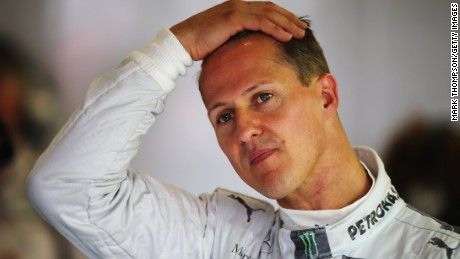 NORTHAMPTON, ENGLAND - JULY 06: Michael Schumacher of Germany and Mercedes GP prepares to drive during practice for the British Grand Prix at Silverstone Circuit on July 6, 2012 in Northampton, England. (Photo by Mark Thompson/Getty Images)