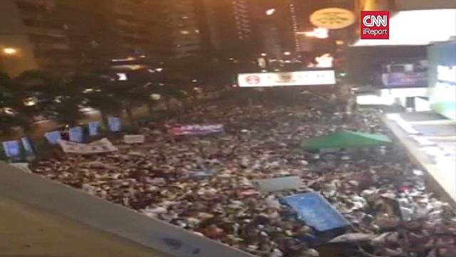 iReport: Mass protest in Hong Kong