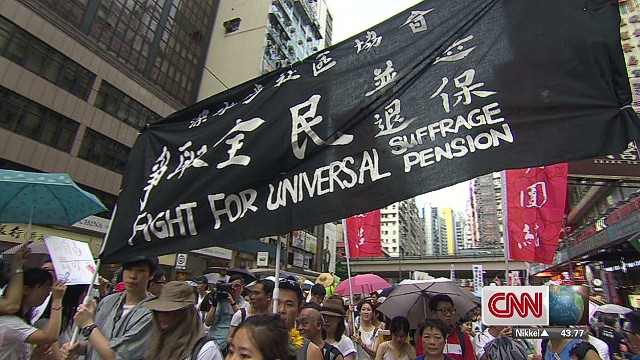 Protestors arrested in Hong Kong