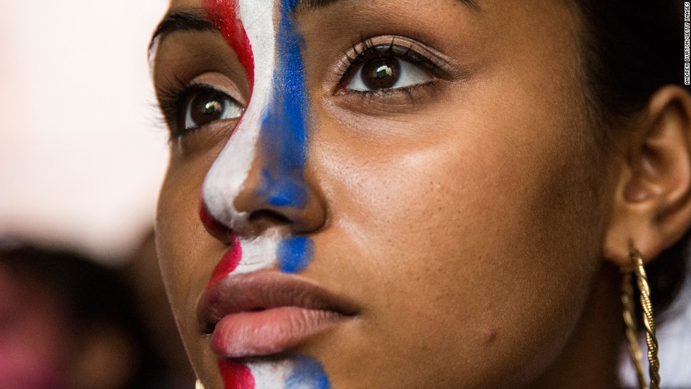 JULY 2 - NEW YORK, U.S.: Madison Patel watches as Belgium eliminates the U.S. from the World Cup in overtime with a final score 2-1. Despite the loss last night, the U.S. team has been praised for their never-say-die attitude.