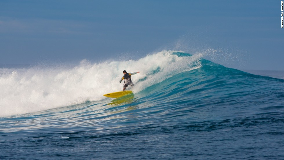 On the east coast of the main island of Grande Terre, La Roche Percee Beach is the only known place in New Caledonia where one can surf off the shore. But the real action lies three kilometers offshore, where the swell hits the outer reef.