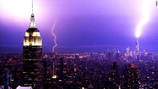Watch lightning electrify NYC skyline