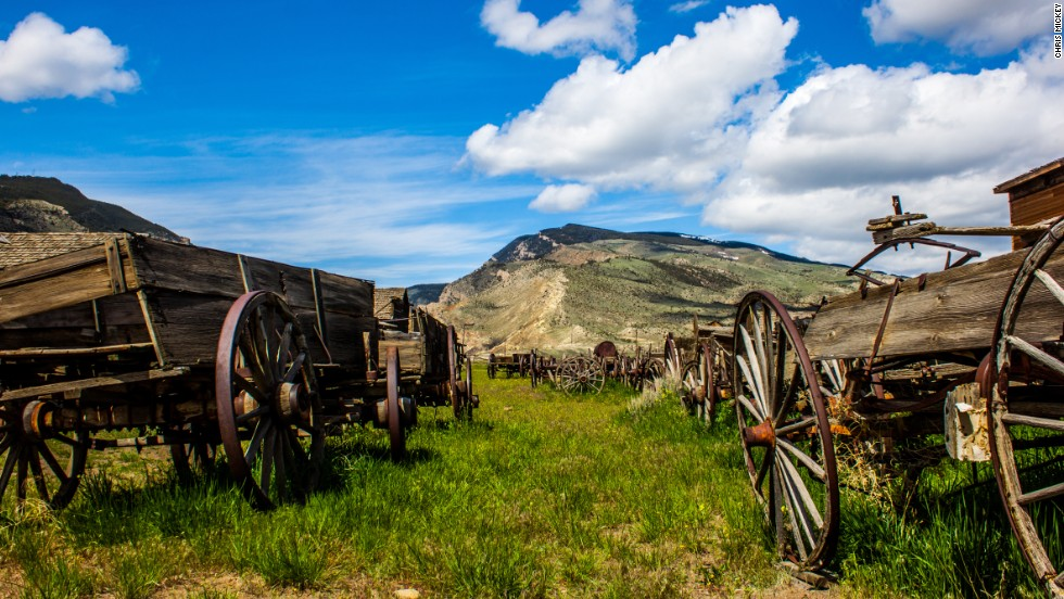 The entrance to Cody, Wyoming's Old Trail Town, will lead visitors to the museum that holds Butch Cassidy's log cabin.  Nearby recreation trails lead to Outlaw Cave, a favorite hideout for Cassidy and his gang.