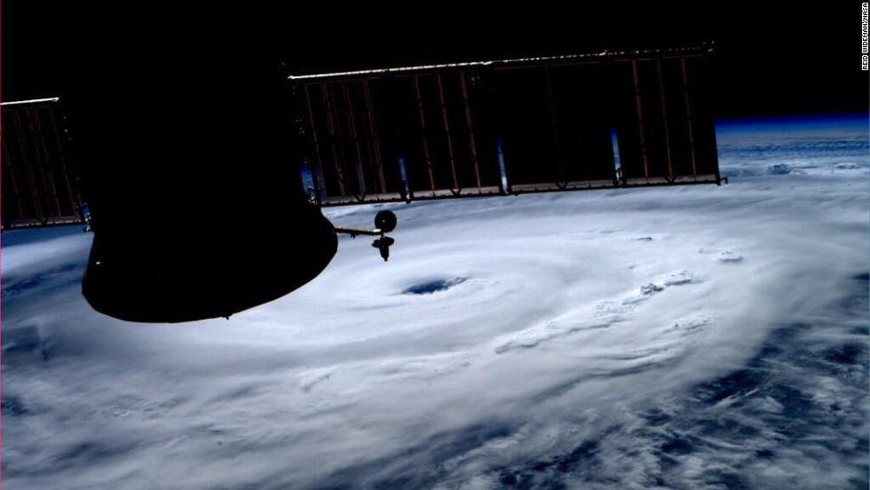 Astronaut Reid Wiseman, aboard the International Space Station, posted this photo of the storm to Twitter on July 3.
