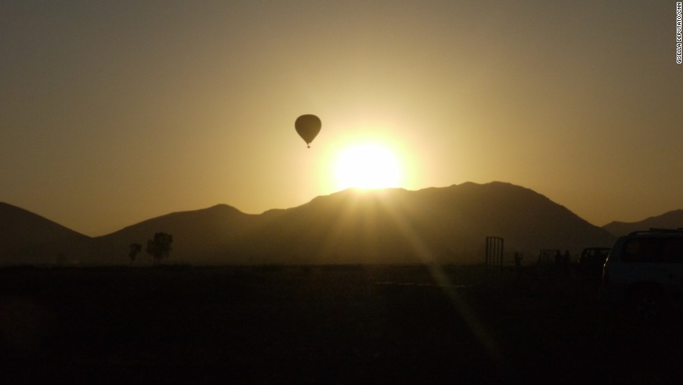 The clear skies over Marrakech make it an ideal spot for hot air ballooning. The views over countryside, mountains and desert are said to be the best in Morocco.