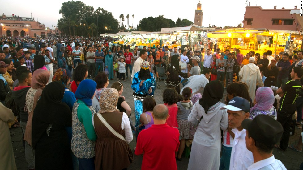 "Storytellers, who tell tales from traditional Arabic literature such as ""The Thousand and One Nights,"" have been a fixture in Jemaa el-Fna for centuries."