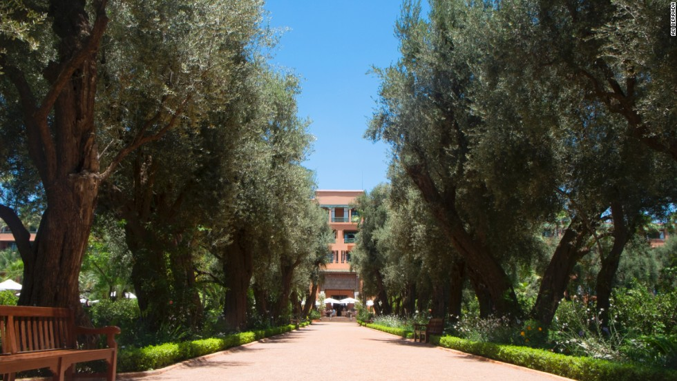 The five-star Mamounia Palace hotel has been a Marrakech institution for the best part of a century, receiving famous guests such as Winston Churchill and Charlie Chaplin.