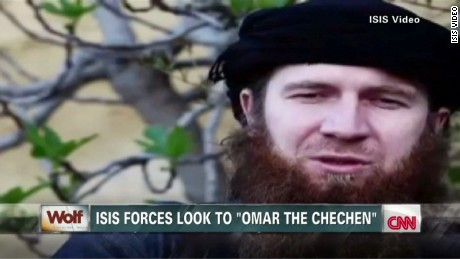 """Isis commander Omar al-Shishani, also known as """"Omar the Chechen"""""""