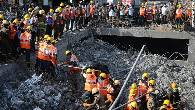 India building collapses