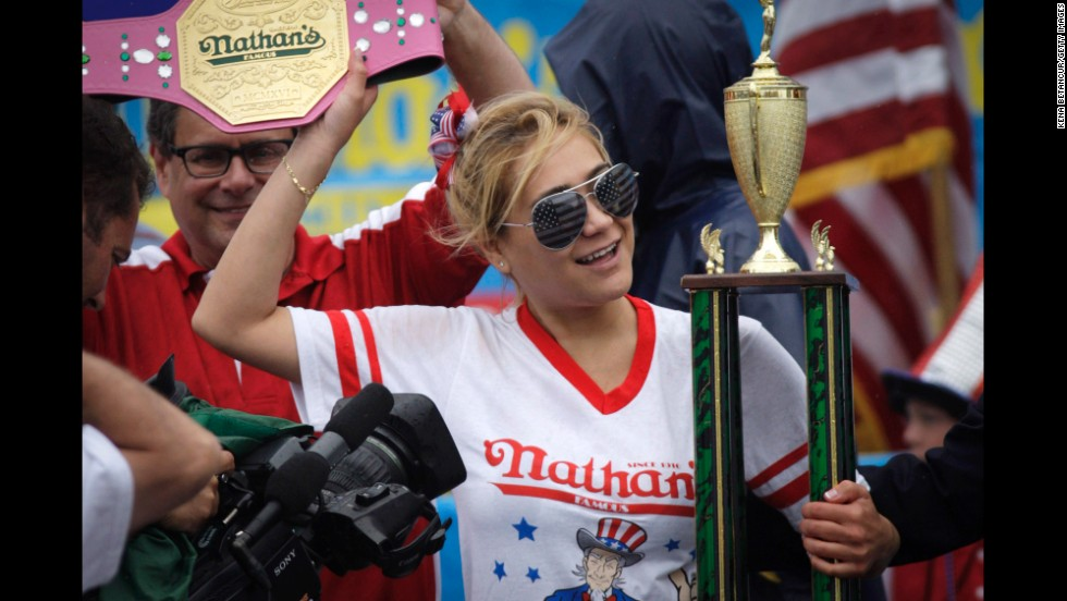 Sudo celebrates her victory.