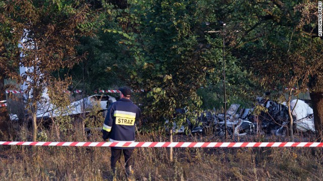 Nine bodies were found in the plane's wreckage, according to police.
