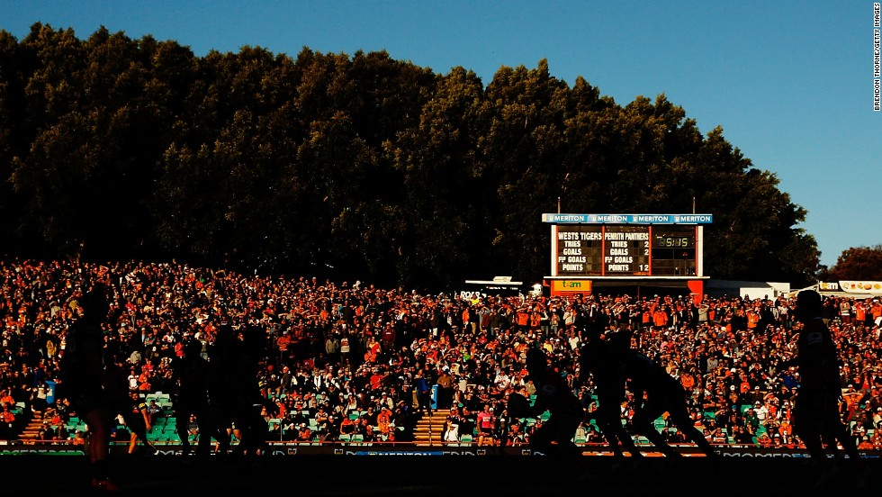 The Wests Tigers take on the Penrith Panthers in a National Rugby League match held Sunday, July 6, in Sydney. The Panthers won 26-10 to move atop the league standings.