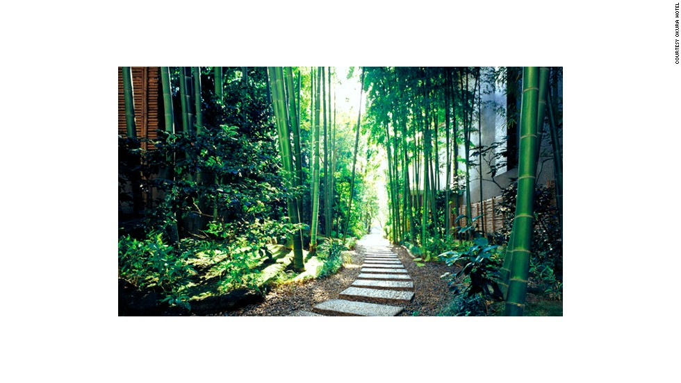 Enclosed by a rustling bamboo forest, this tranquil path connects the Kamiyacho subway station to Tokyo's Hotel Okura.