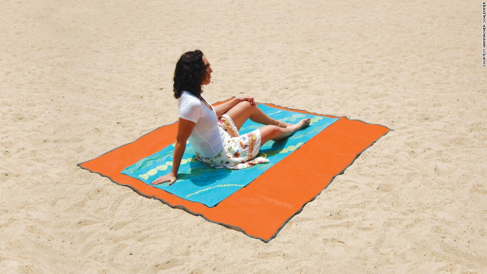 This towel was reportedly developed for military use, made from a woven polyurethane material that sand won't stick to.