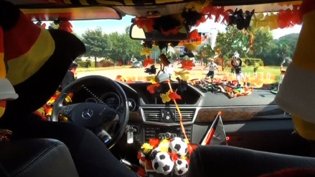 Crazy cabbie is Germany's biggest fan