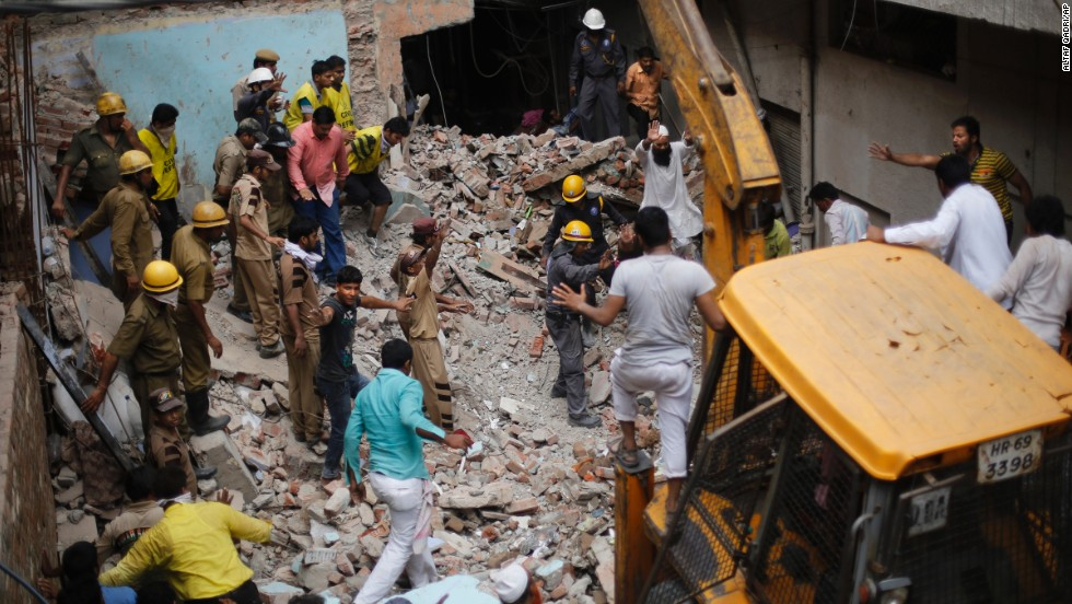A dilapidated building collapsed in New Delhi on June 28, killing 10 people, including five children.