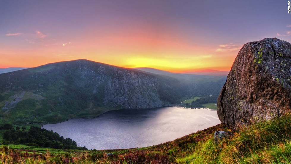 "<strong>5. Wicklow Mountains, Ireland. </strong>Rolling green hills and flowing rivers made for exquisite backdrops in romantic comedy ""P.S. I Love You."" A serenading Gerard Butler didn't hurt either."