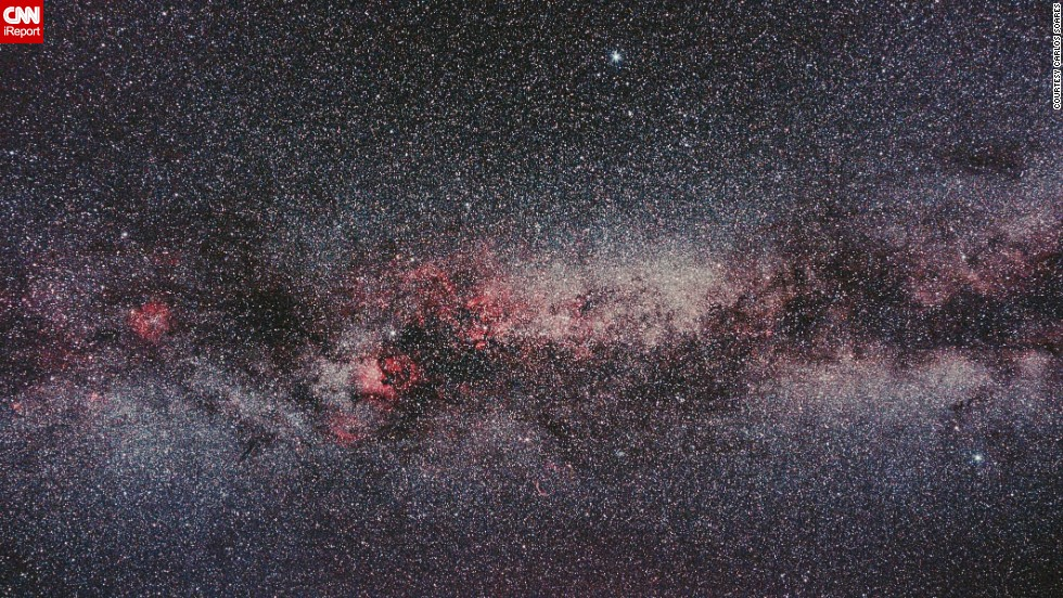 """An avid astrophotographer, <a href=""""http://ireport.cnn.com/docs/DOC-1149612"""" target=""""_blank"""">iReporter Carlos Soares</a> took this photo near the Portuguese city of Braga. """"This is widefield astrophotography with many targets, taken with a DSLR camera and a lens. We can see several constellations including Cygnus, the Lyra and the Eagle."""""""