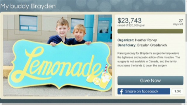 Lemonade stand raises $24K for surgery