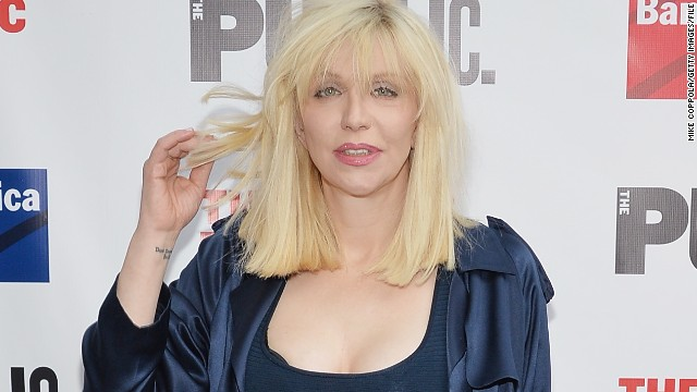 Courtney Love arrives at the Public Theater's 2014 Gala in New York.