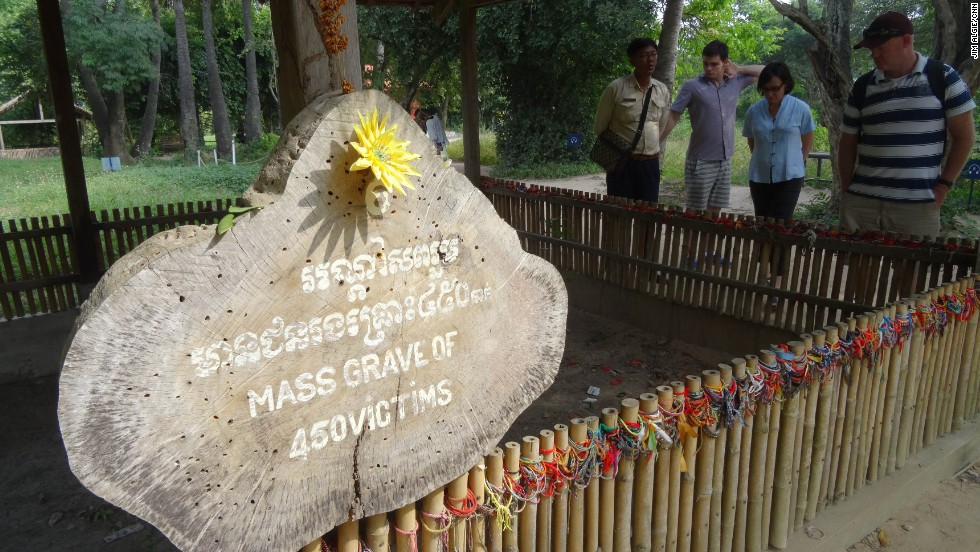 When Cambodian authorities renovated the Killing Fields in 2011, a series of mass graves where the Khmer Rouge executed and buried victims en masse, they turned it into a full-fledged tourism spectacle, with audio tours, benches, refreshment stalls and souvenir stands.