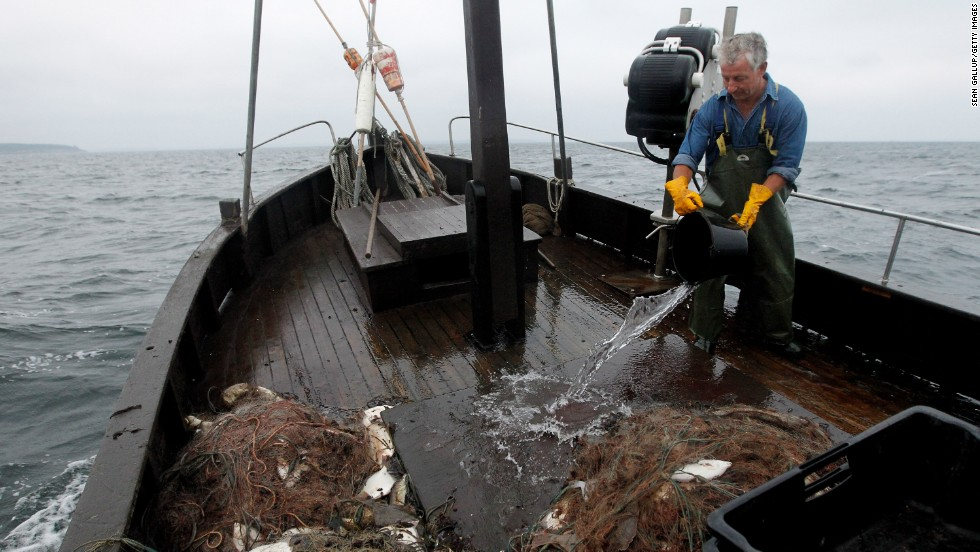 Oceans around the globe could provide the world with extra $50 billion each year -- if people learned how to manage fisheries in more sustainable way. Pictured here is fisherman Klaus Raack, who started fishing in the Baltic sea when he was 15 and is now 60.