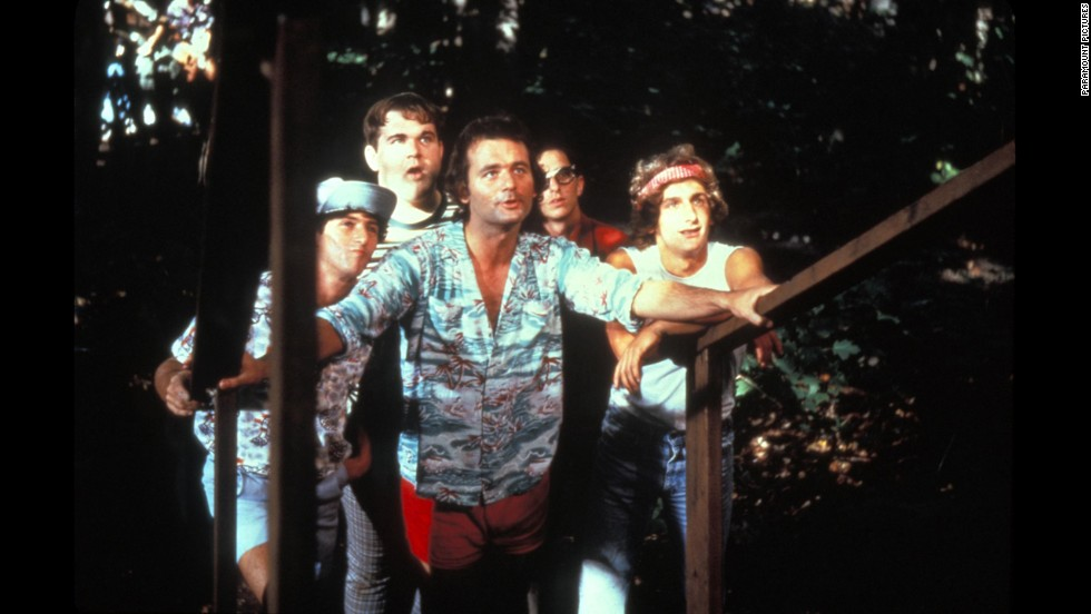 "The practical jokes don't stop in the 1979 camp classic ""Meatballs,"" starring Bill Murray, center. Care packages filled with whoopee cushions and fake spiders would have kept these jokers in business all summer."