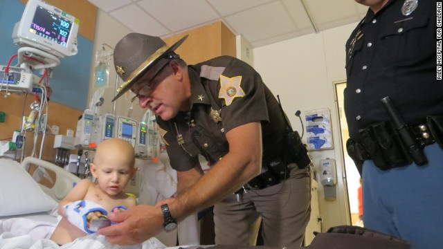 Three-year-old Wyatt Schmaltz, an Indiana boy with stage 4 cancer, was named a sheriff's deputy Wednesday.